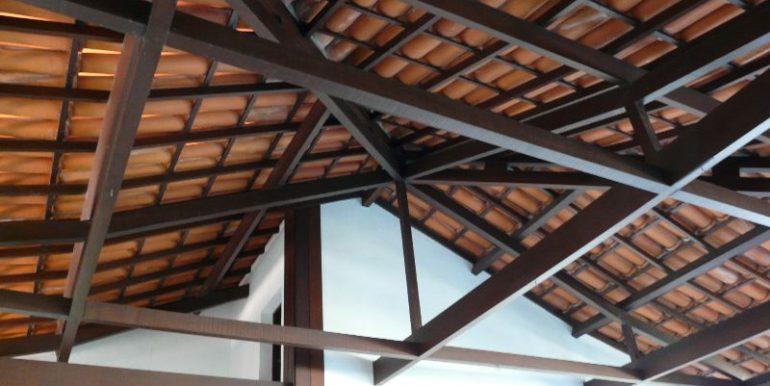 telhado da area da garagem